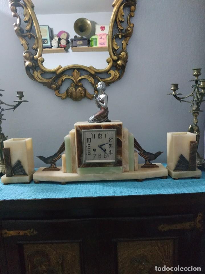 Relojes de carga manual: Reloj antiguo de bronce artdeco M Secondo - Foto 12 - 232185150