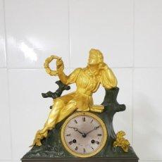 Relojes de carga manual: RELOJ DE BRONCE AL MERCURIO ORO FINO ÉPOCA IMPERIO CIRCA 1810 1820 INMEJORABLE ESTADO FUNCIONA MIRA. Lote 245733300