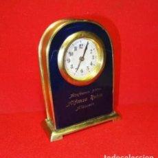 Relojes de carga manual: RELOJ CUERDA SOBREMESA ART DECÓ PUBLICIDAD AZAFRAN ALBACETE, .FUNCIONA. Lote 245762000