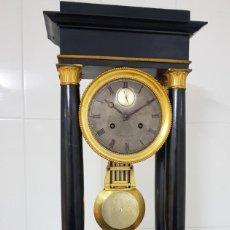 Relojes de carga manual: RELOJ PÓRTICO REGULADOR Y SEGUNDERO EPOCA IMPERIO GOLIAT MIDE 56CM COM BRONCE AL MERCURIO FUNCIONA. Lote 245999250