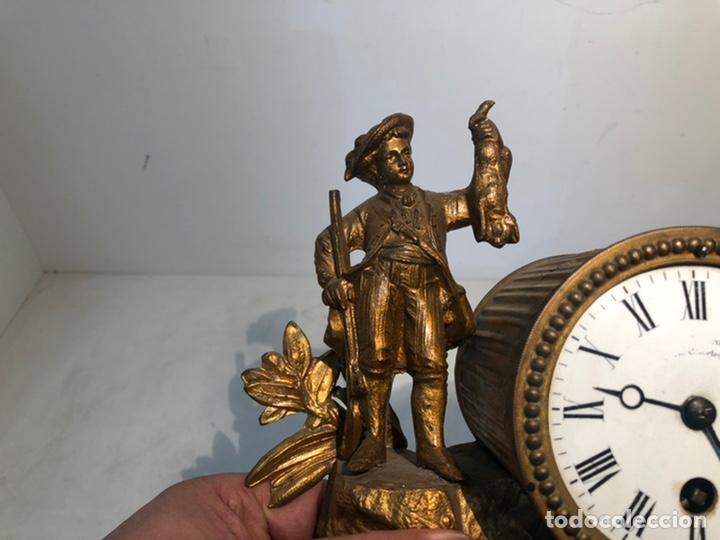 Relojes de carga manual: ANTIGUO RELOJ DE SOBREMESA, CAZADOR DE CALAMINA. - Foto 3 - 247991505