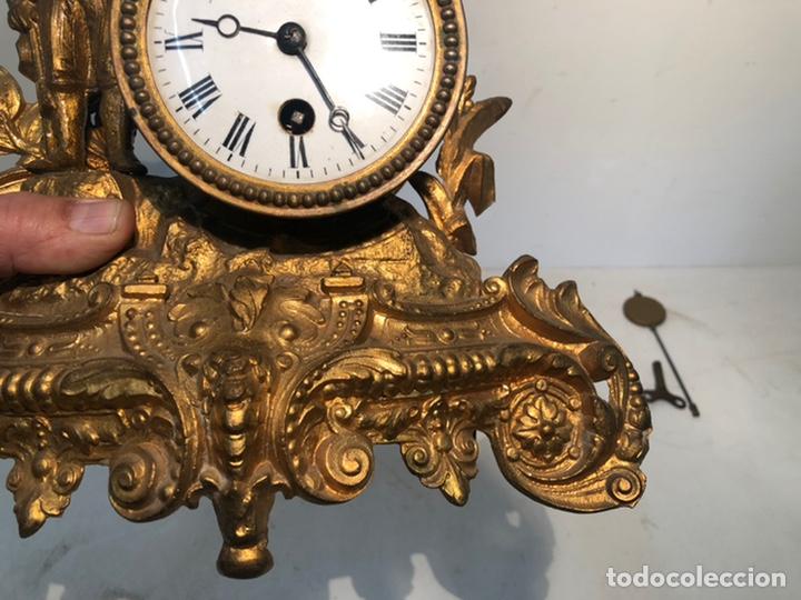 Relojes de carga manual: ANTIGUO RELOJ DE SOBREMESA, CAZADOR DE CALAMINA. - Foto 4 - 247991505