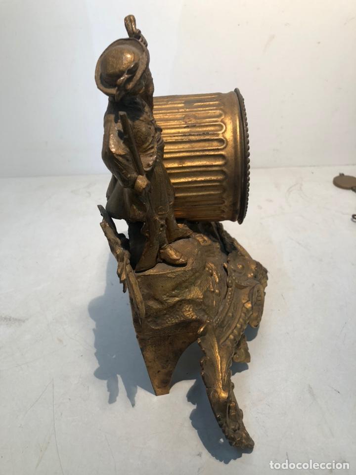 Relojes de carga manual: ANTIGUO RELOJ DE SOBREMESA, CAZADOR DE CALAMINA. - Foto 6 - 247991505