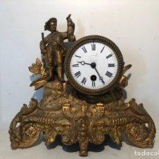Relojes de carga manual: ANTIGUO RELOJ DE SOBREMESA, CAZADOR DE CALAMINA.. Lote 247991505