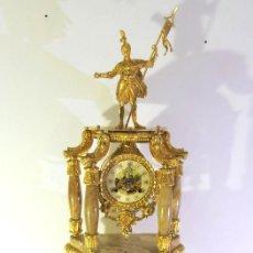 Relojes de carga manual: RELOJ DE SOBREMESA ALEMÁN MARCA FHS EN BRONCE. Lote 248476655