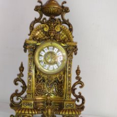 Relojes de carga manual: MAGNÍFICO RELOJ FRANCÉS DE BRONCE MUY DETALLADO MAQUINARIA PARÍS. Lote 248746115