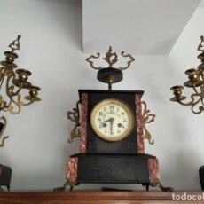 Relojes de carga manual: ANTIGUO RELOJ CON GUARNICIÓN. S.XIX-XX.. Lote 252145740