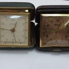 Relojes de carga manual: LOTE DE RELOJ DESPERTADOR DE VIAJE. 3 FUNCIONAN. Lote 253808420
