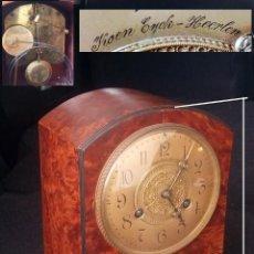 Relojes de carga manual: RELOJ DE MESA ANTIGUO CON MÁQUINA BERGER & WUERKER DE LEIPZIG, 1912. Lote 254258190