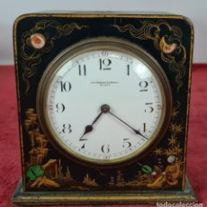 Relojes de carga manual: RELOJ DE SOBREMESA. FREDERIC JAPY FRERES. CAJA DEMADERA LACADA. SIGLO XIX-XX.. Lote 254310280