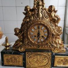 Relojes de carga manual: PRECIOSO RELOJ EN BRONCE MAZIZO DE ORO LAMINADO AÑOS 40-50 LEER DESCRIPCIÓN!!!. Lote 254541250