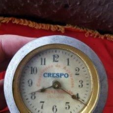 Relojes de carga manual: PRECIOSO RELOJ ANTIGUO. CRESPO, EXPORTACIÓN DE AZAFRANES, MÁLAGA Y NOVELDA. ALICANTE. AÑOS 30-40. Lote 254876350
