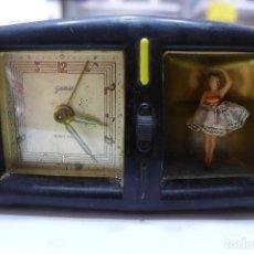 Relojes de carga manual: RELOJ DESPERTADOR GOLDBUHL CON BAILARINA MUSICAL EN CAJA DE BAQUELITA. Lote 255025835