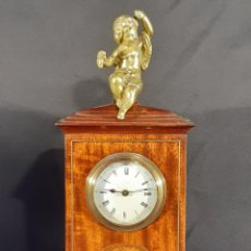 Relojes de carga manual: RELOJ DE SOBREMESA. CAOBA. VICTORIANO. INGLATERRA. SIGLO XIX.. Lote 255429205