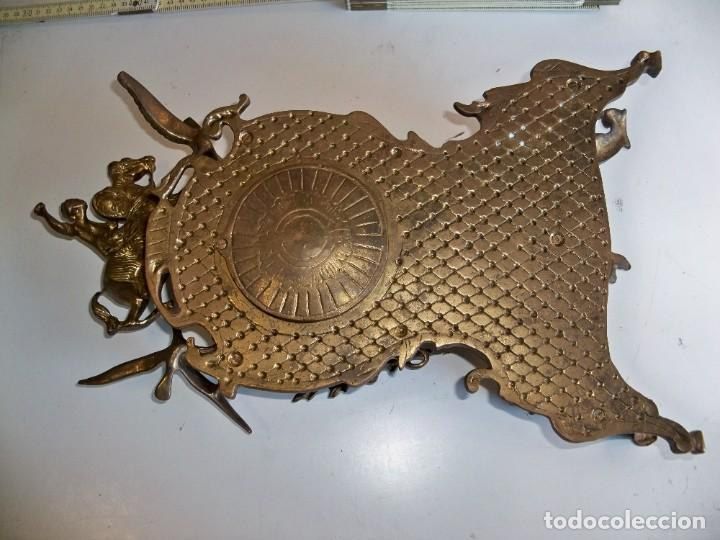 Relojes de carga manual: Antigua caja de bronce para reloj - Foto 6 - 257348245