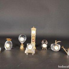 Relojes de carga manual: 8 RELOJES MINIATURA DE CRISTAL. Lote 259228810