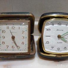 Relojes de carga manual: LOTE DE RELOJES DE SOBREMESA DE VIAJE BLESSING Y EUROPA. Lote 259283350