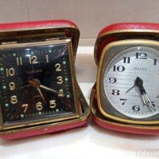 Relojes de carga manual: LOTE DE RELOJES DE SOBREMESA DE VIAJE DELUXE Y EUROPA A CUERDA. Lote 259284090
