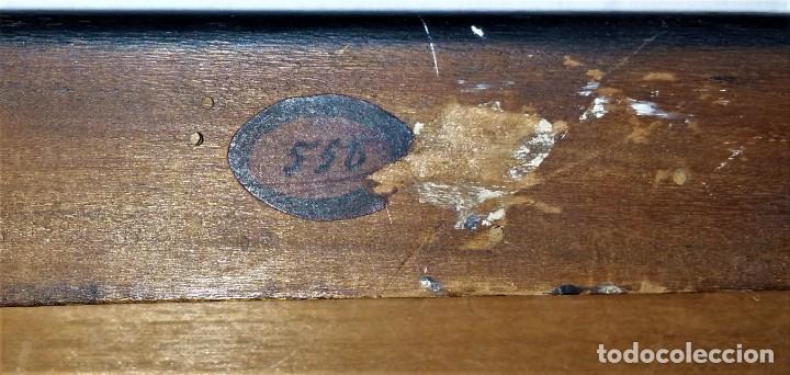 Relojes de carga manual: Fantástico reloj de sobremesa -muy antiguo- en bronce, calamina y peanas de madera - Foto 46 - 260282865