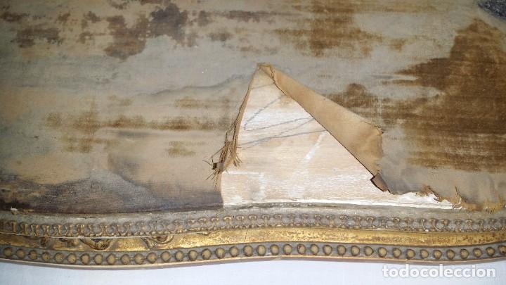 Relojes de carga manual: Fantástico reloj de sobremesa -muy antiguo- en bronce, calamina y peanas de madera - Foto 50 - 260282865