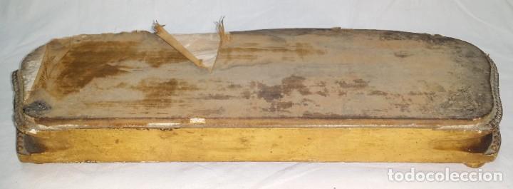 Relojes de carga manual: Fantástico reloj de sobremesa -muy antiguo- en bronce, calamina y peanas de madera - Foto 51 - 260282865