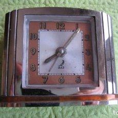 Relojes de carga manual: ANTIGUO RELOJ MODERNISTA DE SOBREMESA DESPERTADOR FUNCIONA PERFECTAMENTE. Lote 261173525
