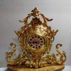 Relojes de carga manual: RELOJ DE SOBREMESA DE CARGA MANUAL EN BRONCE Y BASE DE MARMOL, ALEMAN. MADE IN GERMANY.. Lote 262426895