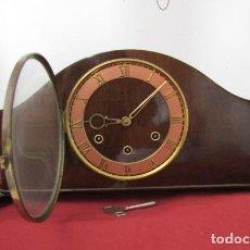Relojes de carga manual: RELOJ ANTIGUO ALEMAN DE CHIMENEA MESA SOBREMESA SONERIA CAMPANADAS MELODÍA CATEDRAL BIB BEN CARILLÓN. Lote 262617855