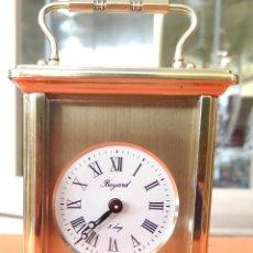 Relojes de carga manual: ANTIGUO Y PRECIOSO RELOJ DE CARRUAJE/SOBREMESA DE BRONCE. MARCA BAYARD. Lote 262790435
