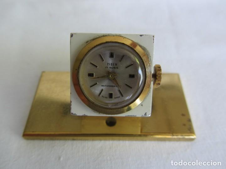 Relojes de carga manual: Reloj Isben de sobremesa a cuerda forma de dado Publicidad Butano - Foto 3 - 262911255