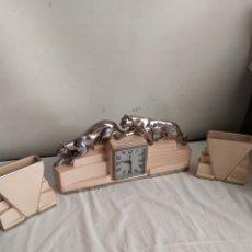 Horloges à remontage manuel: MAGNÍFICO RELOJ FRANCÉS ART DÉCO PORCELANA MAQUINARIA DE CUERDA CON SONERIA FUNCIONA. Lote 264276292