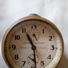 Relojes de carga manual: RELOJ/DESPERTADOR JOAQUIN BAQUER DE ZARAGOZA. Lote 264429899