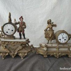 Horloges à remontage manuel: LOTE DE DOS BONITOS Y ANTIGUOS RELOJES DE SOBREMESA. Lote 264553944