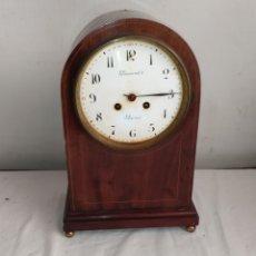 Horloges à remontage manuel: ANTIQUÍSIMO RELOJ FRANCÉS MADERA CON MARQUETERÍA SONERIA DE GONG. Lote 264729114