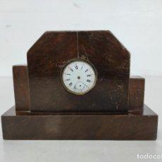 Horloges à remontage manuel: RELOJ DE SOBREMESA ART DECÓ - MADERA - ESFERA CON RELOJ DE BOLSILLO DE ÉPOCA - AÑOS 20-30. Lote 266470893