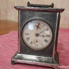 Horloges à remontage manuel: ANTIGUO RELOJ DESPERTADOR DE CARRUAJE. Lote 266591753