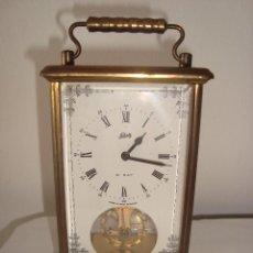 Relógios de carga manual: RELOJ ALEMAN DE CARRUAJE , SCHATZ 8 DIAS . CARGA MANUAL FUNCIONANDO. Lote 267465674