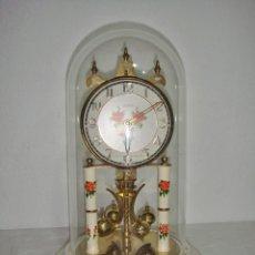 Relojes de carga manual: ANTIGUO RELOJ DE SOBREMESA ALEMÁN. HALLER. AÑOS 50. DE CUERDA. 400 DÍAS. CON FANAL.. Lote 267644339
