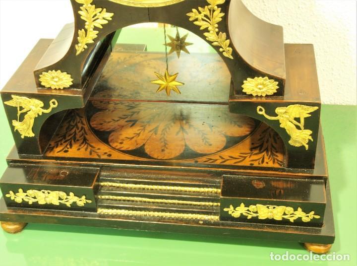 Relojes de carga manual: Reloj antiguo Vienés – austríaco de estilo Biedermeier - Foto 10 - 270909088