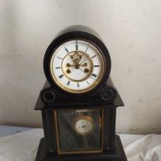 Horloges à remontage manuel: PRECIOSO RELOJ FRANCÉS MÁRMOL NEGRO ESCAPE VISTO SIGLO XIX. Lote 276908583