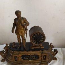 Relojes de carga manual: ANTIGUO RELOJ FRANCÉS MÁRMOL Y CALAMINA SIGLO XIX. Lote 276910098