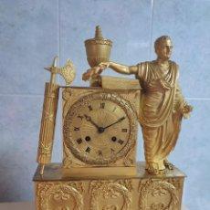 Relojes de carga manual: RELOJ DE BRONCE AL MERCURIO ÉPOCA PRIMER IMPERIO CIRCA 1800 1810 BUEN ESTADO FUNCIONA ALTA COLECION. Lote 277247098