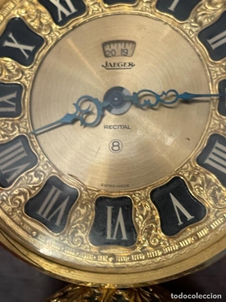 Relojes de carga manual: Reloj de viaje - Jaeger LE COULTRE RECITAL 8 colores oro - Segunda mitad del siglo XX - Foto 13 - 277464683