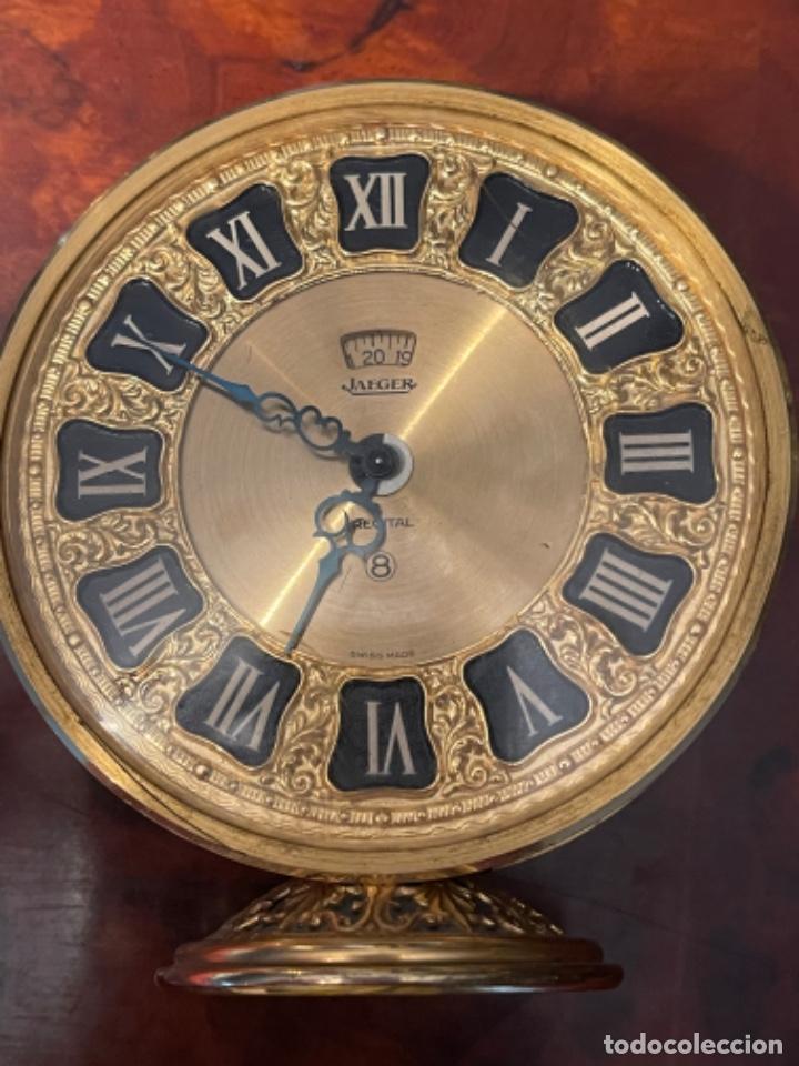 Relojes de carga manual: Reloj de viaje - Jaeger LE COULTRE RECITAL 8 colores oro - Segunda mitad del siglo XX - Foto 25 - 277464683