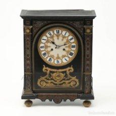 Relojes de carga manual: RELOJ DE SOBREMESA FRANCÉS NAPOLEÓN III EN MARQUETERÍA TIPO BOULLE. ESTIMACIÓN 800€-850€. Lote 278849383