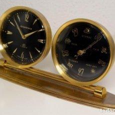 Relojes de carga manual: CONJUNTO DE RELOJ DESPERTADOR MARCA REMEMBRANCE 8 DIAS (SWIZA) Y BAROMETRO. Lote 278876018