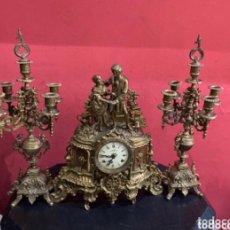 Relojes de carga manual: ANTIGUO RELOJ CUERDA SET ROMANCE (IMPERIAL) ITALIA - BRONCE, LATÓN - SIGLO XX. FUNCIONA VER FOTOS. Lote 279382233