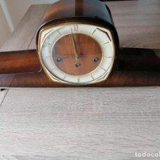 Horloges à remontage manuel: RELOJ DE CHIMENEA ART DECO AÑOS 50-60 CON SONERIA DE CAMPANADAS. EXCELENTE ESTADO. MARCA * DICENTI *. Lote 279568353