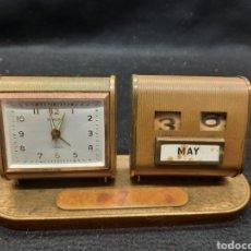Horloges à remontage manuel: VIEJO RELOJ A CUERDA CALENDARIO DE OFICINA. Lote 280470973