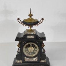 Orologi di carica manuale: RELOJ DE SOBREMESA - OLIVELLA HERMANOS Y CUSPINERA, BARCELONA - MÁRMOL NEGRO Y BRONCE - FUNCIONA. Lote 285435408